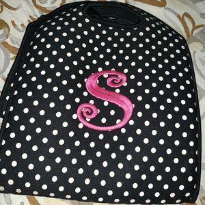 Handbags - Cute Initial S monogram neoprene lunch tote